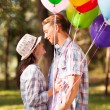 Foto Stock: Lovely teen boyfriend and girlfriend