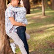 Teenage couple embracing — Stock Photo #28181905