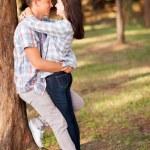 Teenage couple embracing — Stock Photo #28181905