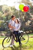 Romantic teen couple dating — Stock Photo