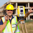 Stock Photo: Land surveyor