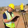 Land surveyor — Foto de Stock