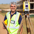 Stock Photo: Senior land surveyor portrait
