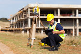 Middle aged land surveyor — Stock Photo