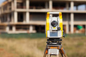 Surveyor equipment tacheometer or theodolite — Stock Photo