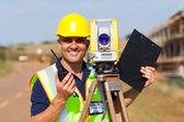 Senior land surveyor — Stock Photo