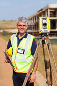 Senior land surveyor portrait — Stock Photo