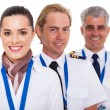 Airline crew close up portrait — Stock Photo