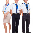 Stock Photo: Airline captain and crew