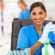 Indian lab technician working in the laboratory — Stock Photo #28708663