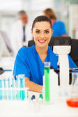 Attractive medical researcher in lab — Stock Photo
