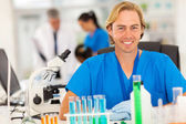 Medical researcher in lab — Stock Photo