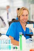 Lab technician in laboratory — Stock Photo