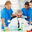 Group of scientists working in lab — Stock Photo #28745435