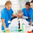 Stock Photo: Group of scientists working in lab