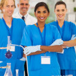 Group of lab technicians — Stock Photo