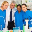 Group of scientists — Stock Photo