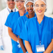 Medical researchers team in lab — Stock Photo #28748847
