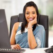 Stock Photo: Young indibusinesswomin office