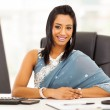 Stock Photo: Indibusinesswomin sari