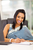 Indian white collar worker in office — Stock Photo