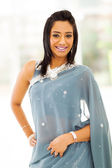 Happy indian woman in saree — Stock Photo