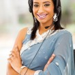 Indian bussiness support center operator — Stock Photo