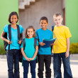 Group of elementary school students — Stock Photo
