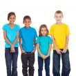Group of children in bright t-shirt — Stock Photo