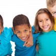 Stock Photo: Group of multiracial kids