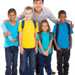 Group of primary school kids and teacher — Stock Photo #28923355