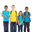 School children on white background — Stock Photo