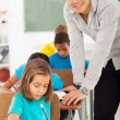 Elementary school teacher — Stock Photo