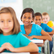 Stock Photo: Primary school students in classroom