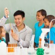 Stock Photo: Primary school science experiment