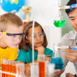 Stock Photo: Primary science class
