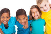 Group of multiracial kids — Stockfoto