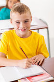Elementary student in classroom — Stock Photo