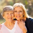 Senior woman and middle aged daughter — Stock Photo #29396147