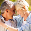 Loving middle aged couple closeup — Stock Photo