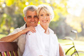 Retired mature couple outdoors — Stock Photo