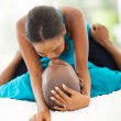 Stock Photo: Africcouple kissing