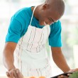 African american man searching for a recipe — Photo