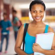 Female african college student holding books — Stock Photo #30071507