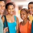 Group of african college students — Foto Stock