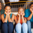 Group of african american college friends — Stock Photo #30074015