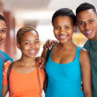 Group of african american university students — Stock Photo #30074601