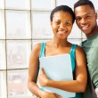 African american college couple — Stock Photo