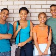Afro american university students on campus — Stock Photo