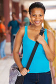 Female african american high school student — Stock Photo